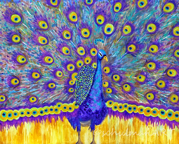 peacock decor | peacock art | peacock painting
