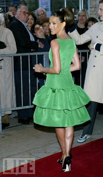Sarah Jessica Parker Emerald Green Tiered Fall 2004 Oscar De La A Dress From The New York City Ballet Spring Gala