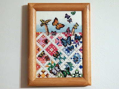 """Butterflies on Nine Patches"""