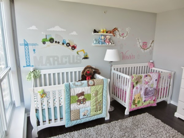 Dormitorios para dos beb s ideas para decorar dormitorios - Cunas para bebes gemelos ...