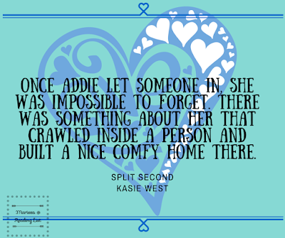 Split Second  by Kasie West a Book Review on Reading List   http://forfunreadinglist.blogspot.com/2015/08/split-second-book-review.html