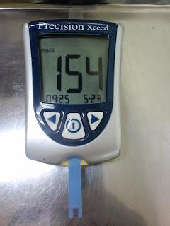 写真:血糖値を測定する装置