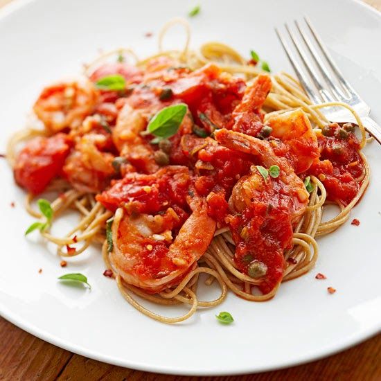Spaghetti with Tomatoes and Shrimp | Best Recipes Ever