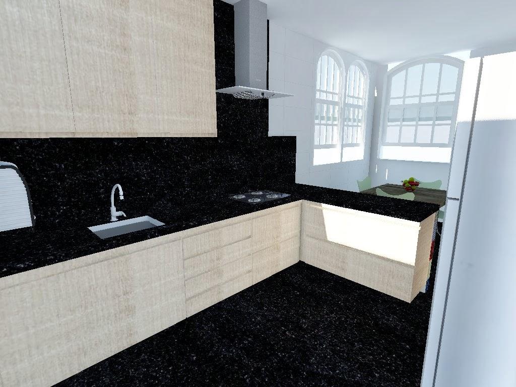 Projeto cozinha colorida #51667A 1024 768