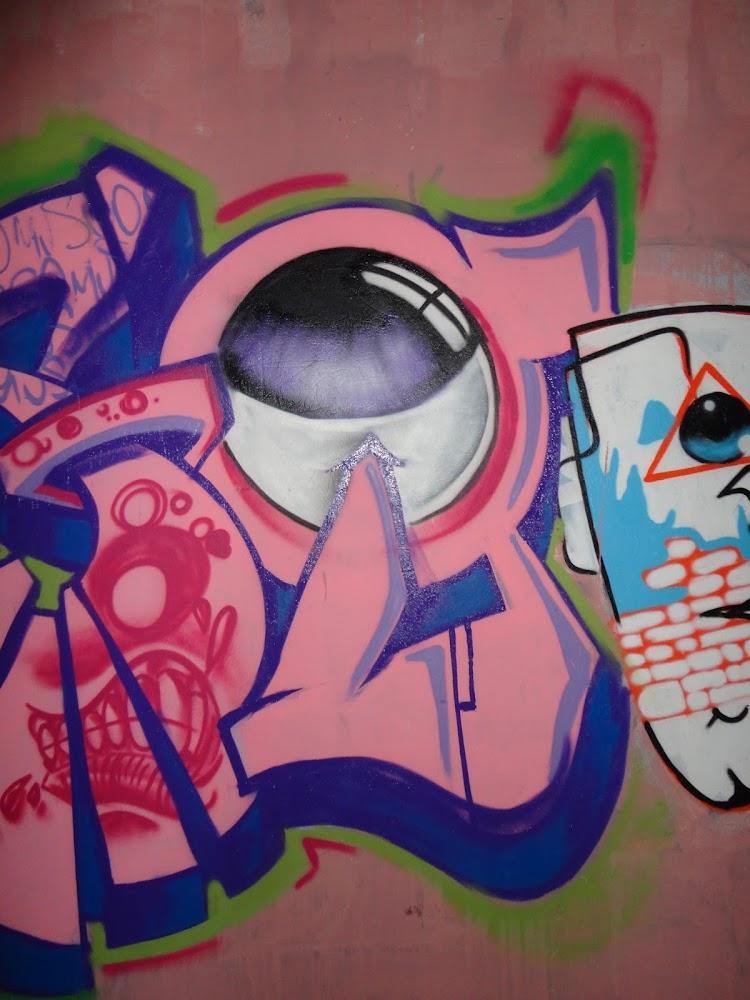Graffiti olho realista