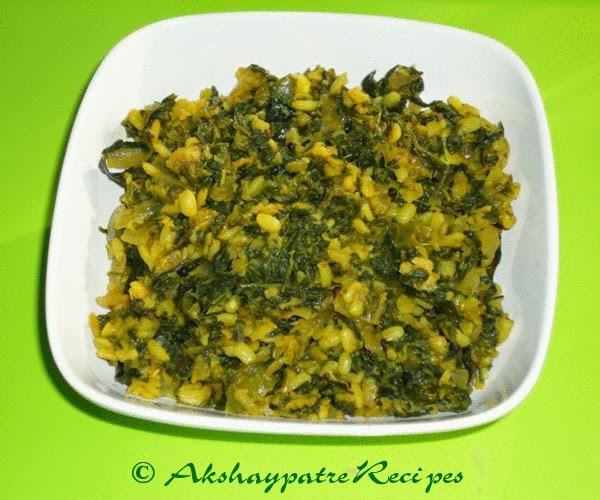 Methi moong dal sabzi ready to serve