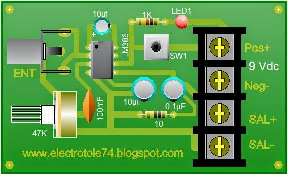 Circuito Impreso De Amplificador De 3000w : Amplificador de watt con lm electrotole