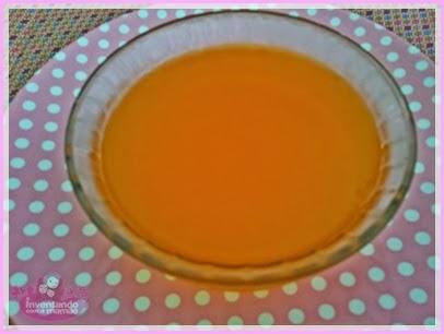 Gelatina com água de legumaes