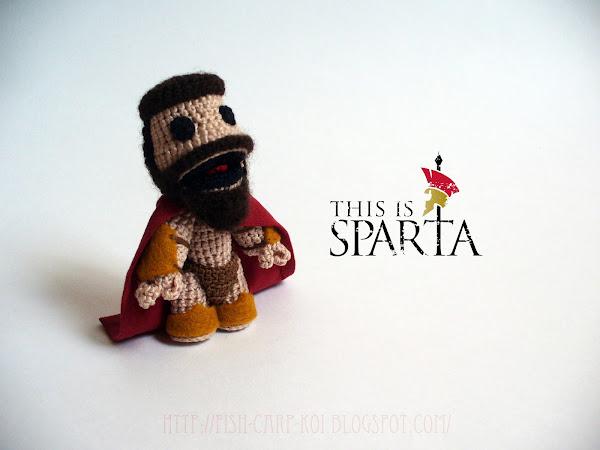 """Персонаж игры """"BigLittlePlanet"""" Sackboy в образе царя Леонида из фильма """"300 спартанцев"""""""