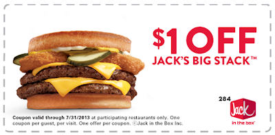 graphic regarding Jack in the Box Printable Coupons named Jack within just The Box - $1 Off Printable Coupon For Jacks Large