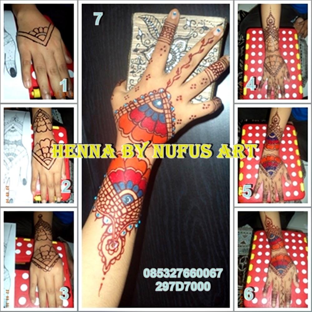 Tahapan Dalam Membuat Lukis Henna Rainbow Amp Henna Glitter Henna