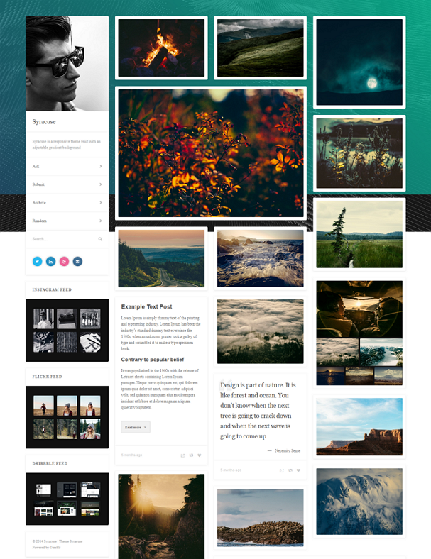 Responsive Tumblr Theme