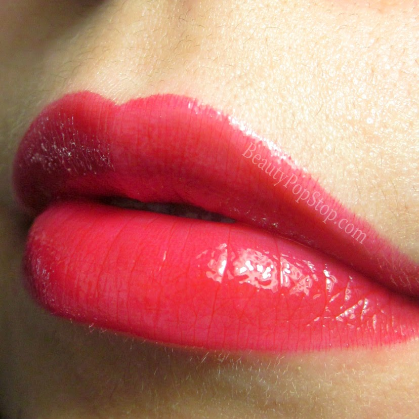 mac by request glam lipglass swatch
