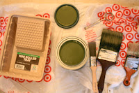 Behr green paint, Alligator Skin