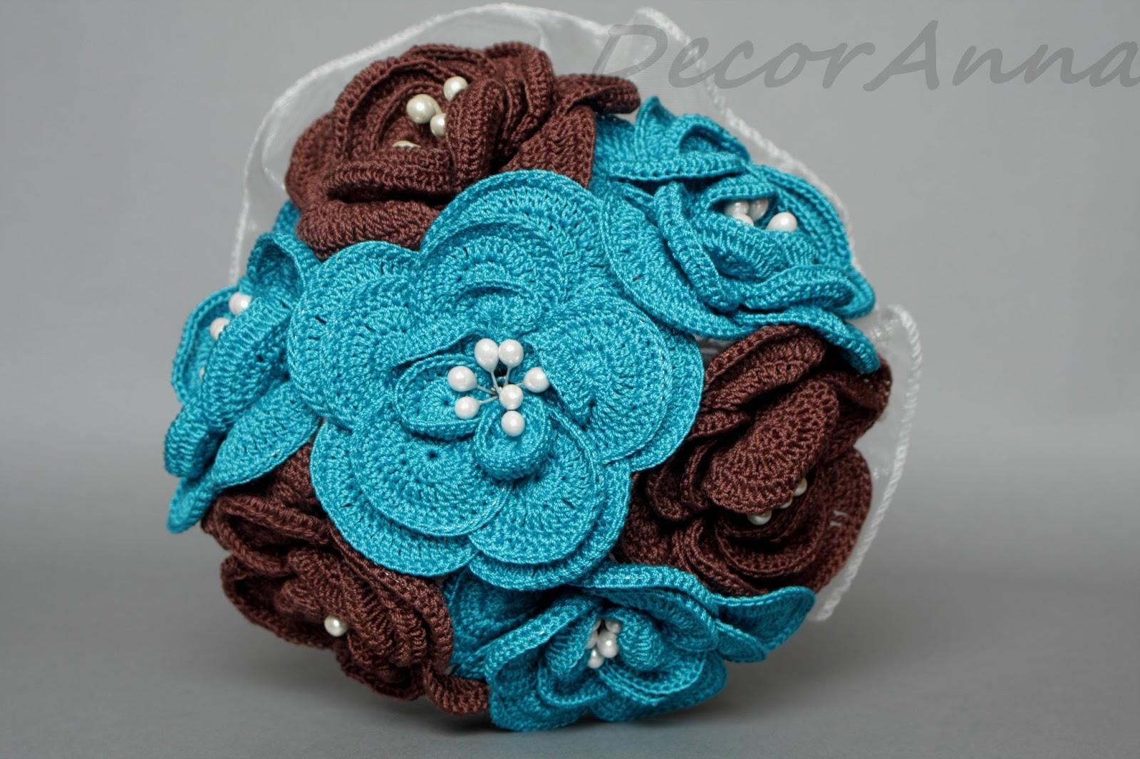 Blue Brown Wedding Bouquets : Decoranna niebiesko br zowy bukiet lubny blue and