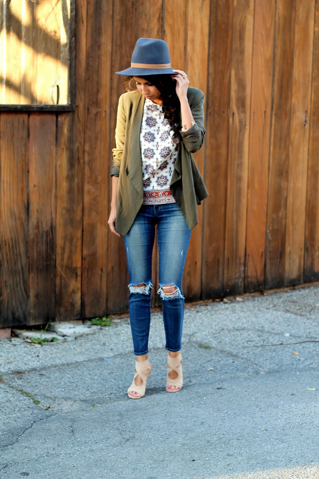 j brand jeans, janessa leone lucy hat, spring style, aquazzura lace up heels, how to wear hats