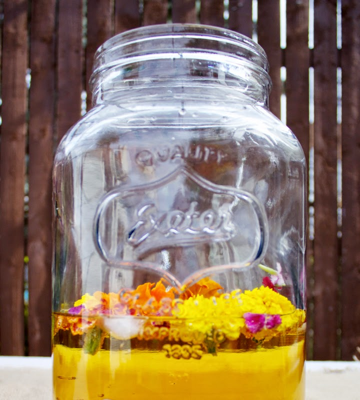 Edible Flower Sangria