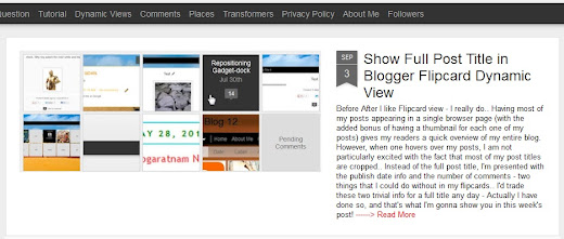 How You can Add the 'Read More' Tag to Post Summaries in Blogger's Magazine Dynamic View