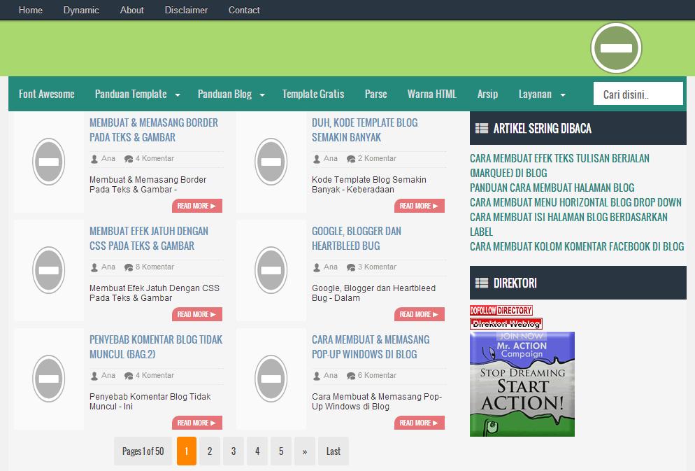 Gambar Blog Di Blok Oleh Google