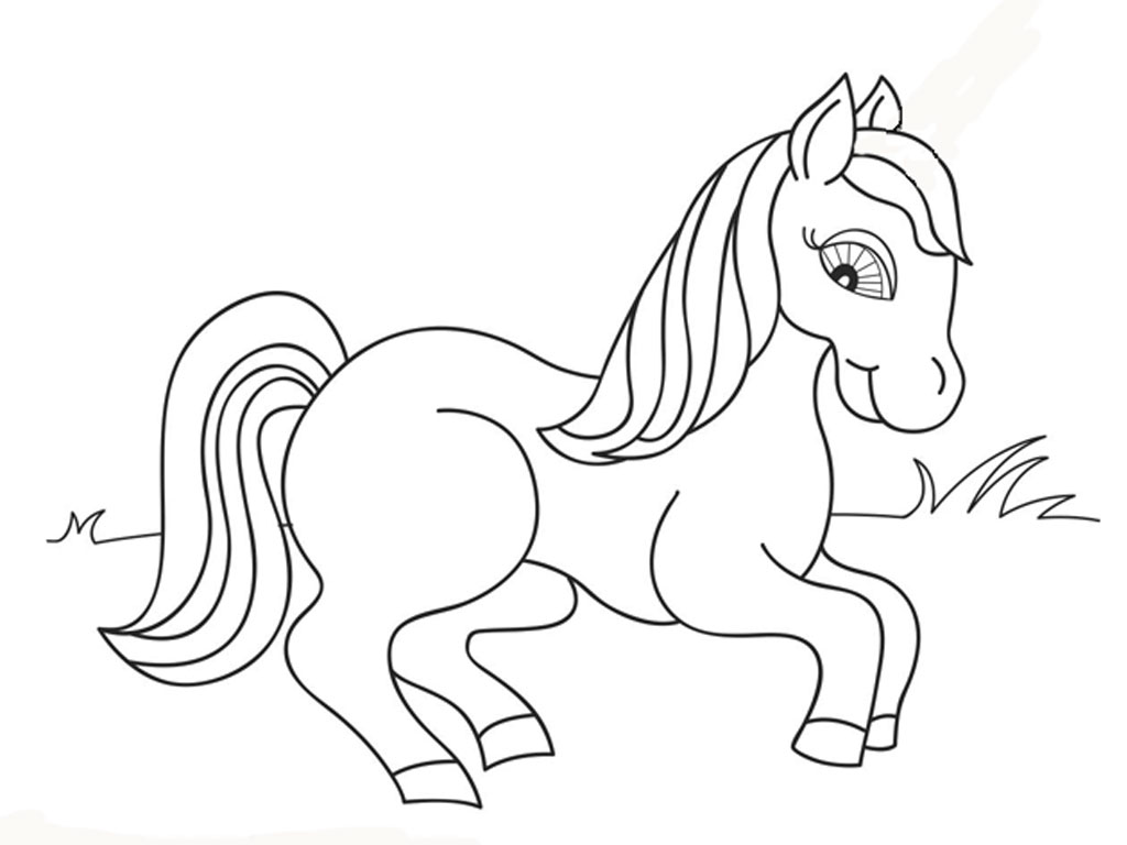 Printable Horse Coloring Pages RealisticColoringpages