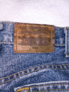 Levi's 545 Jeans pants showing the patch on the back.