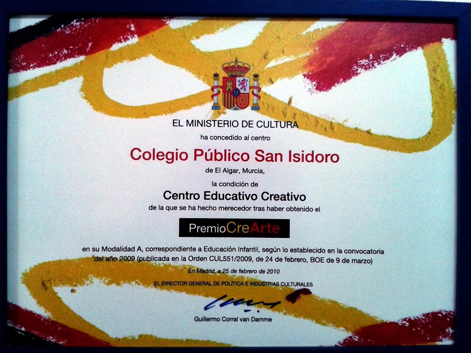 PREMIO CREARTE 2009