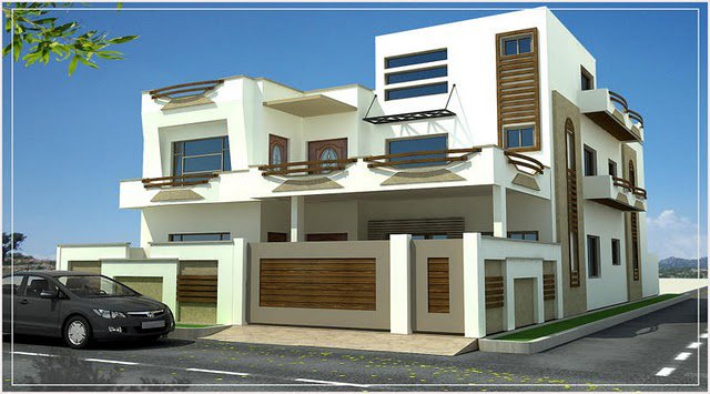 Front Elevation House Chandigarh : D front elevation pakistan beautiful