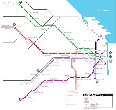 Buenos Aires Mapa de Metro