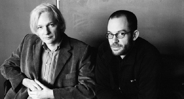 Julian Assange and Daniel Domscheit-Berg photo