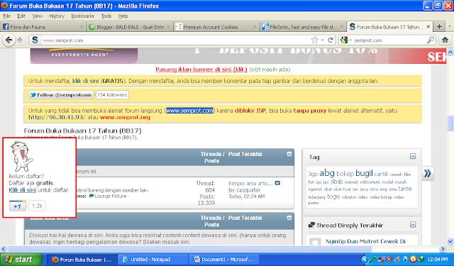gunakan alamat http 96 30 41 93 apabila situs www semprot com terkena ...