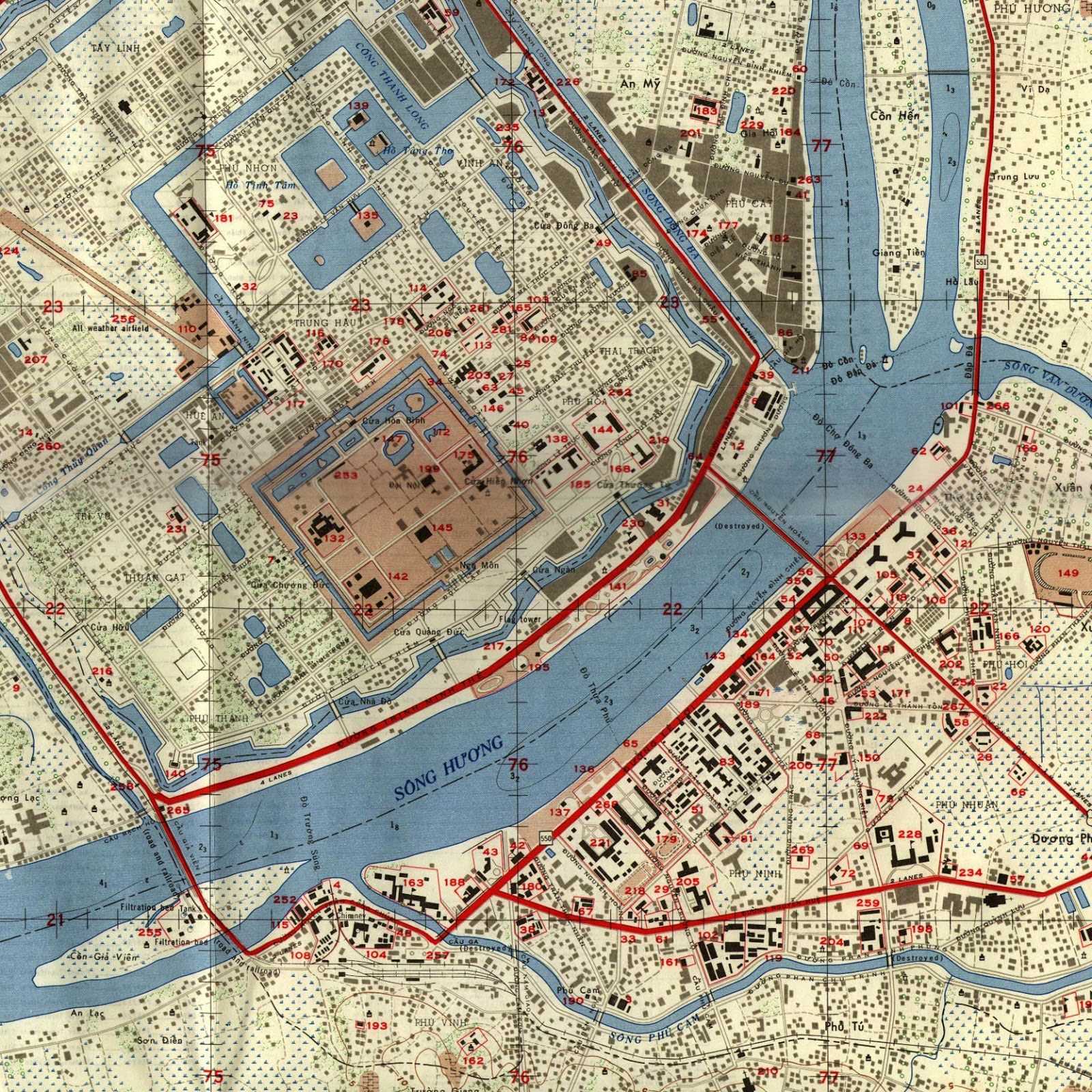 the strong geometry of the city s ancient citadel represented in this us ordnance map over emphasise the dominance of the forbidden city upon its outlying