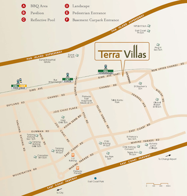 Terra Villas is located at Jalan Sayang Kembangan Singapore.