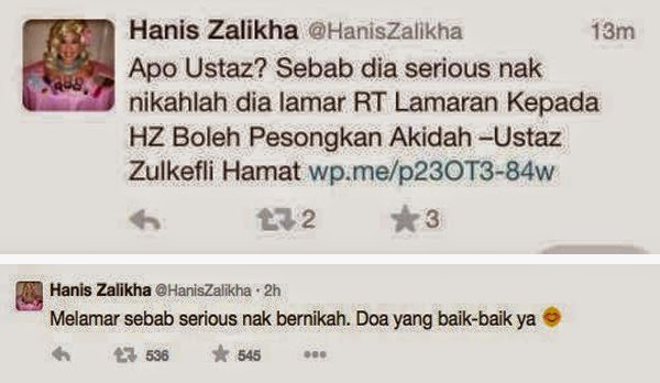 Hanis Zalikha Balas Balik Teguran seorang ustaz