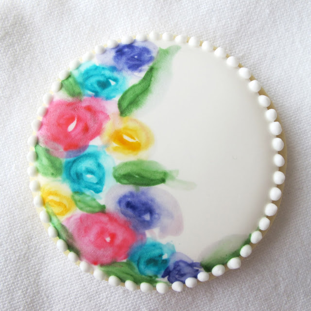 Painted Cookie via Fine Motor Skills
