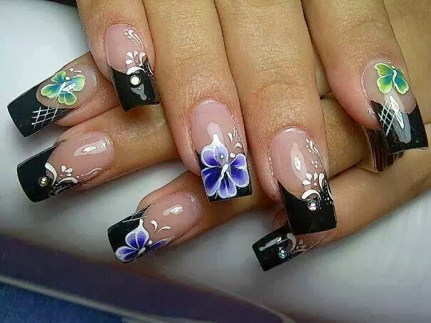 U as decoradas decoracion de u as dise os de u as - Disenos de unas con mariposas faciles ...