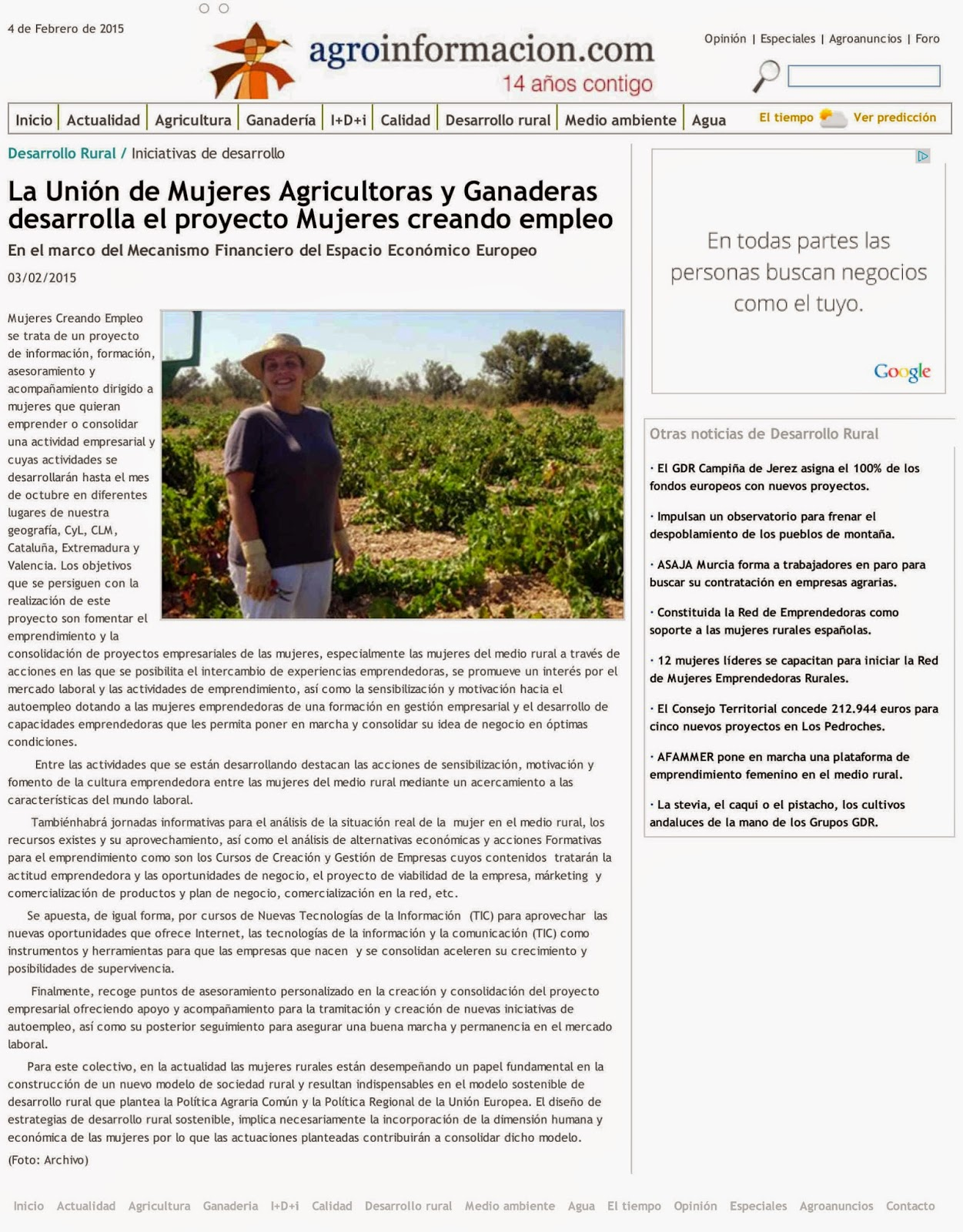 Agroinformación | Inicio del Proyecto