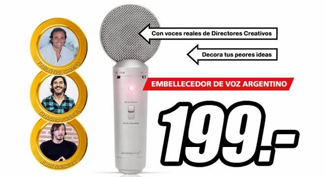 Micrófono voz argentino