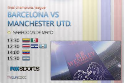 FOX Sports, Caracol | Barcelona vs Manchester United. Champions League, final