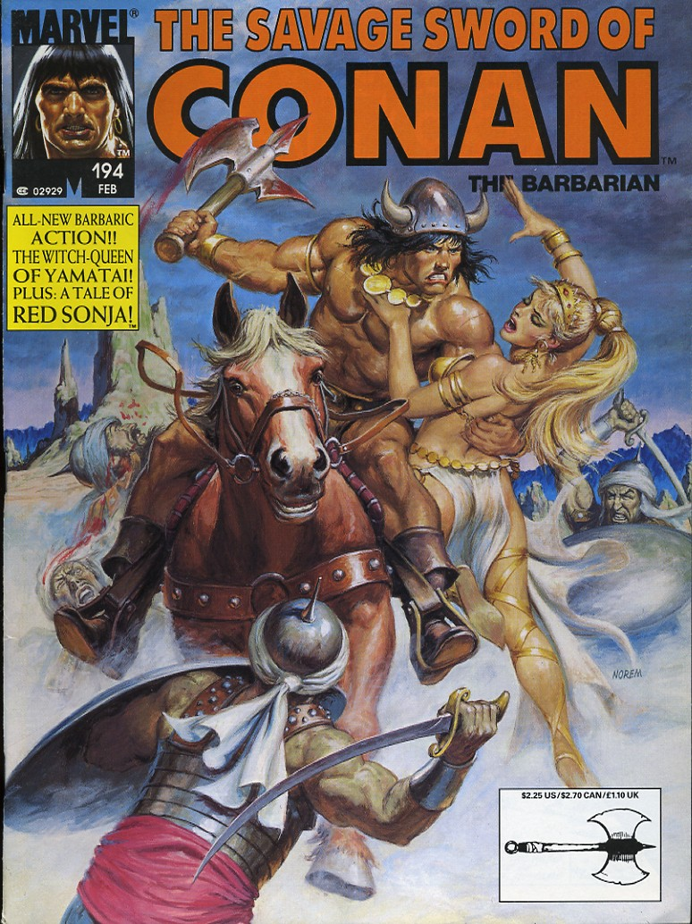The Savage Sword Of Conan Issue #194 #195 - English 1