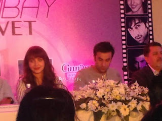 Ranbir Kapoor, Anushka & Anurag at the Bombay Velvet conference in Sri Lanka