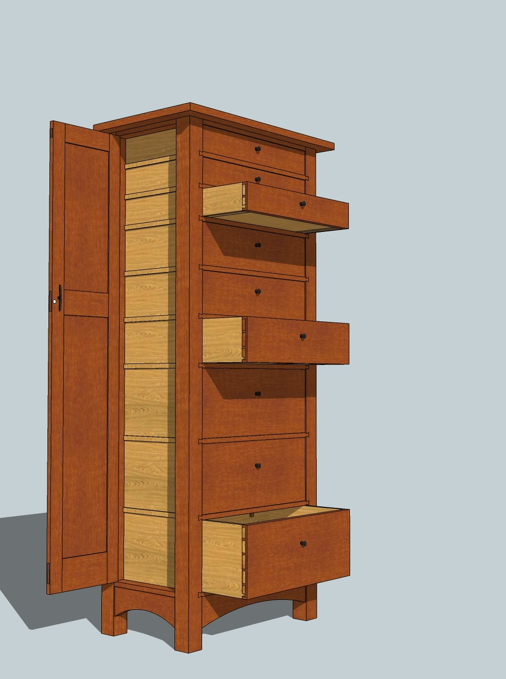 Honey Do Woodworking: Jewelry / Lingerie Chest Project Begins