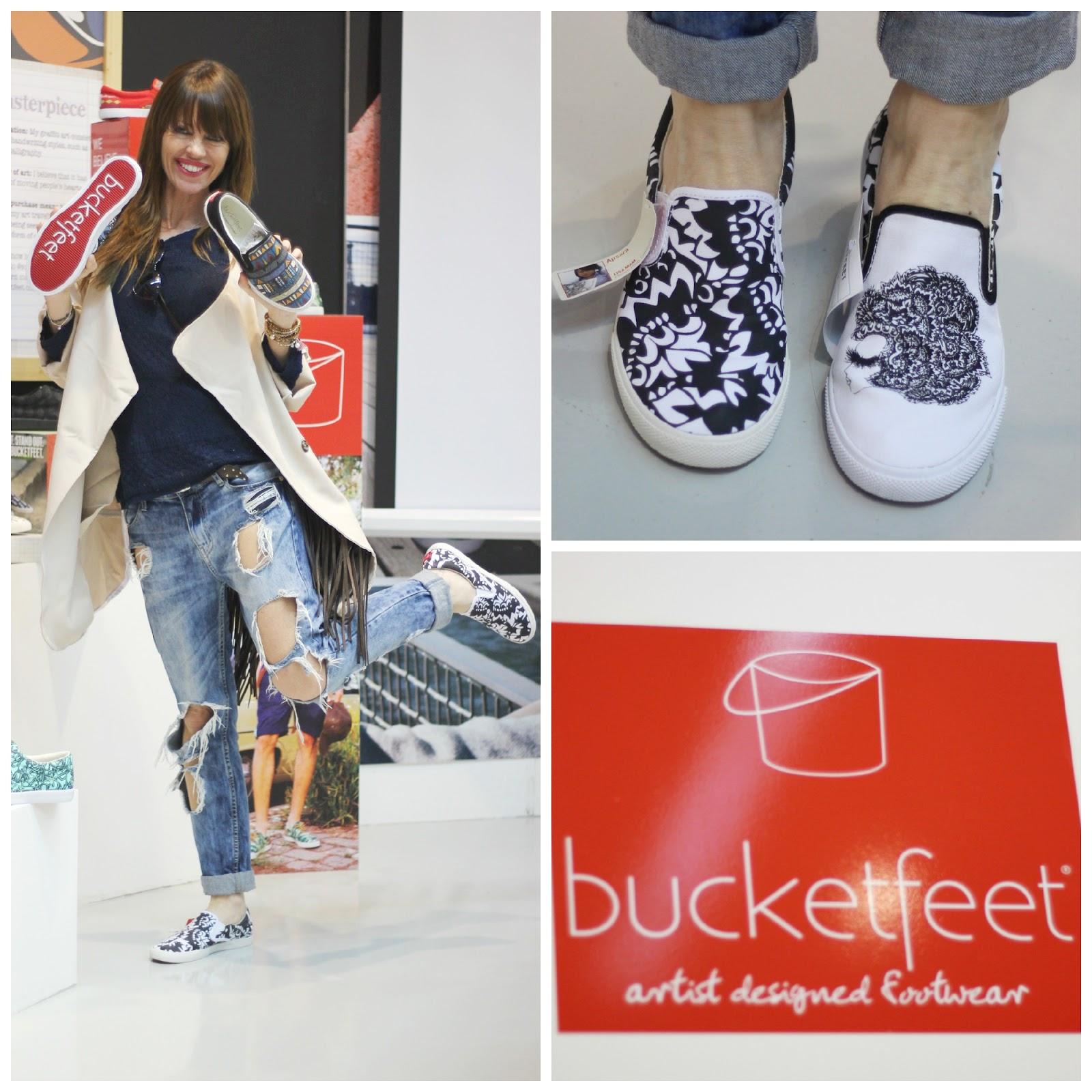 Bucketfeet - Zapatillas diseñadas por artistas - Suela roja - Evento Blogger - Elche