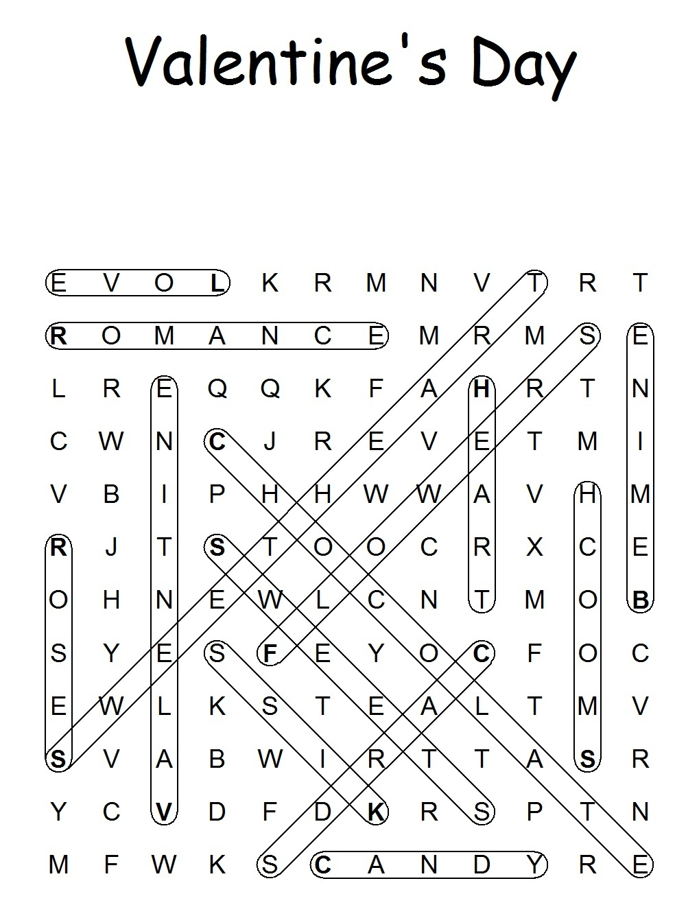 Church House Collection Blog: Valentine Word Search Puzzle