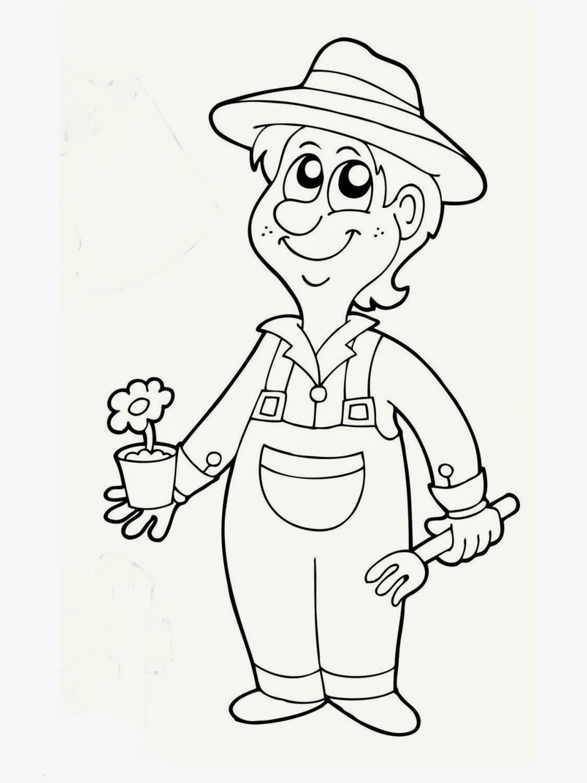 Dibujos para colorear. Maestra de Infantil y Primaria.: El jardinero ...