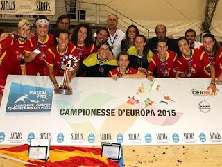 HOCKEY PATINES - España logra su cuarto título europeo femenino consecutivo