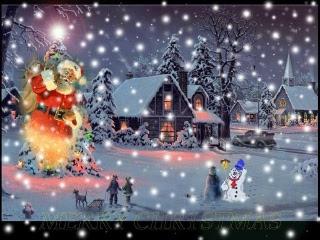 Djed Mraz i snješko, Božić download besplatne pozadine slike za mobitele