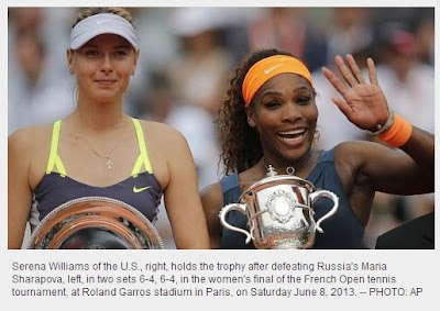 Tennis: Serena Williams wins 2nd French Open title