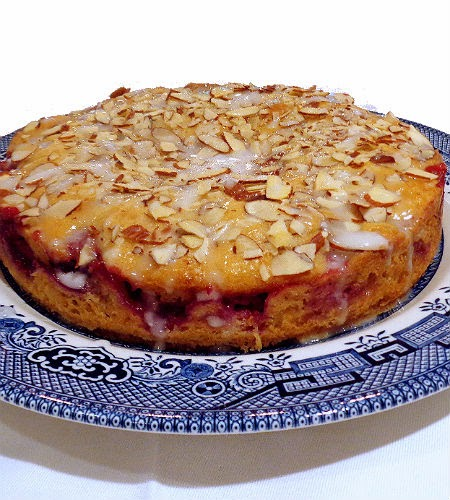 One Perfect Bite: Raspberry Almond Coffee Cake