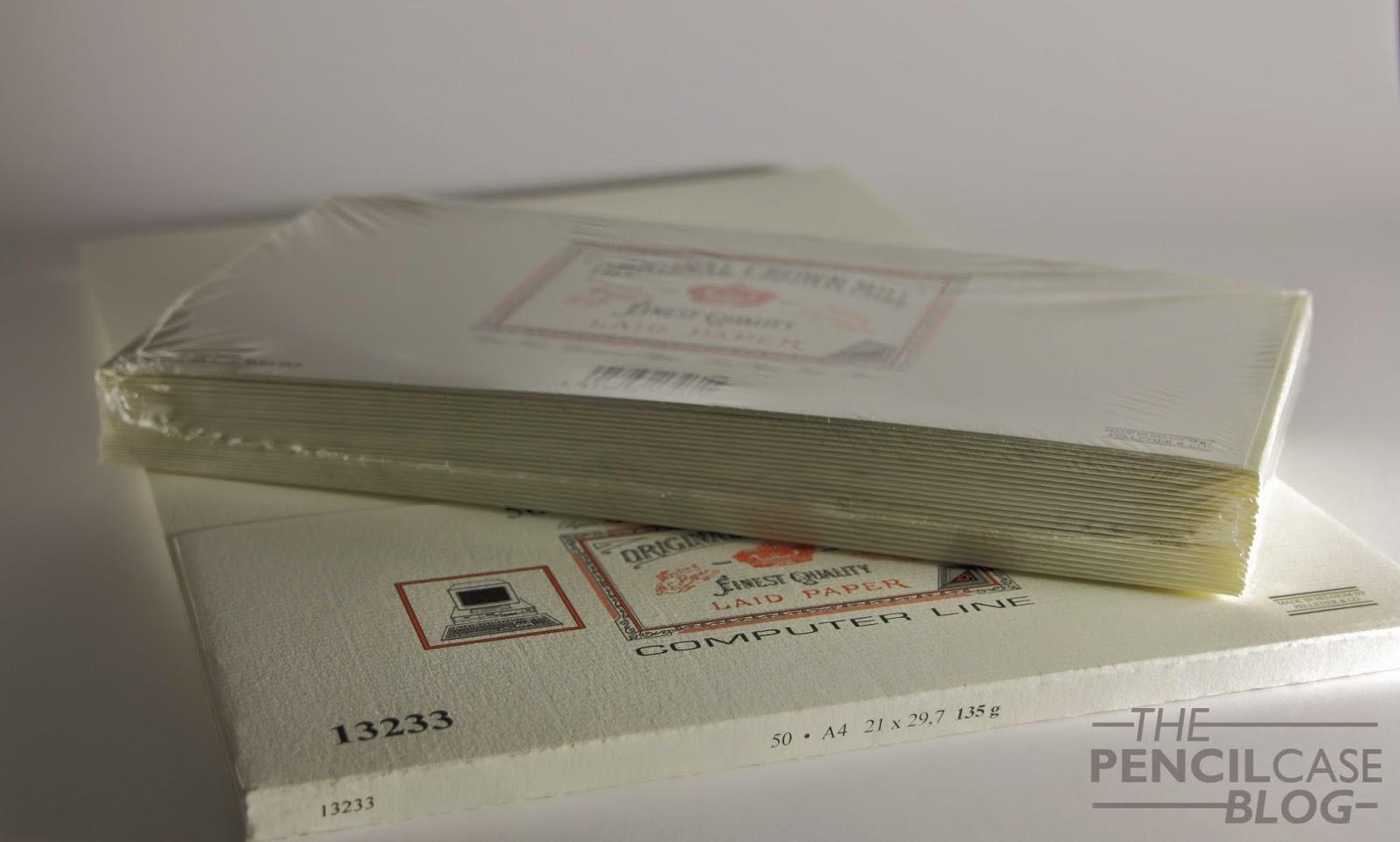 Original Crown Mill correspondence paper