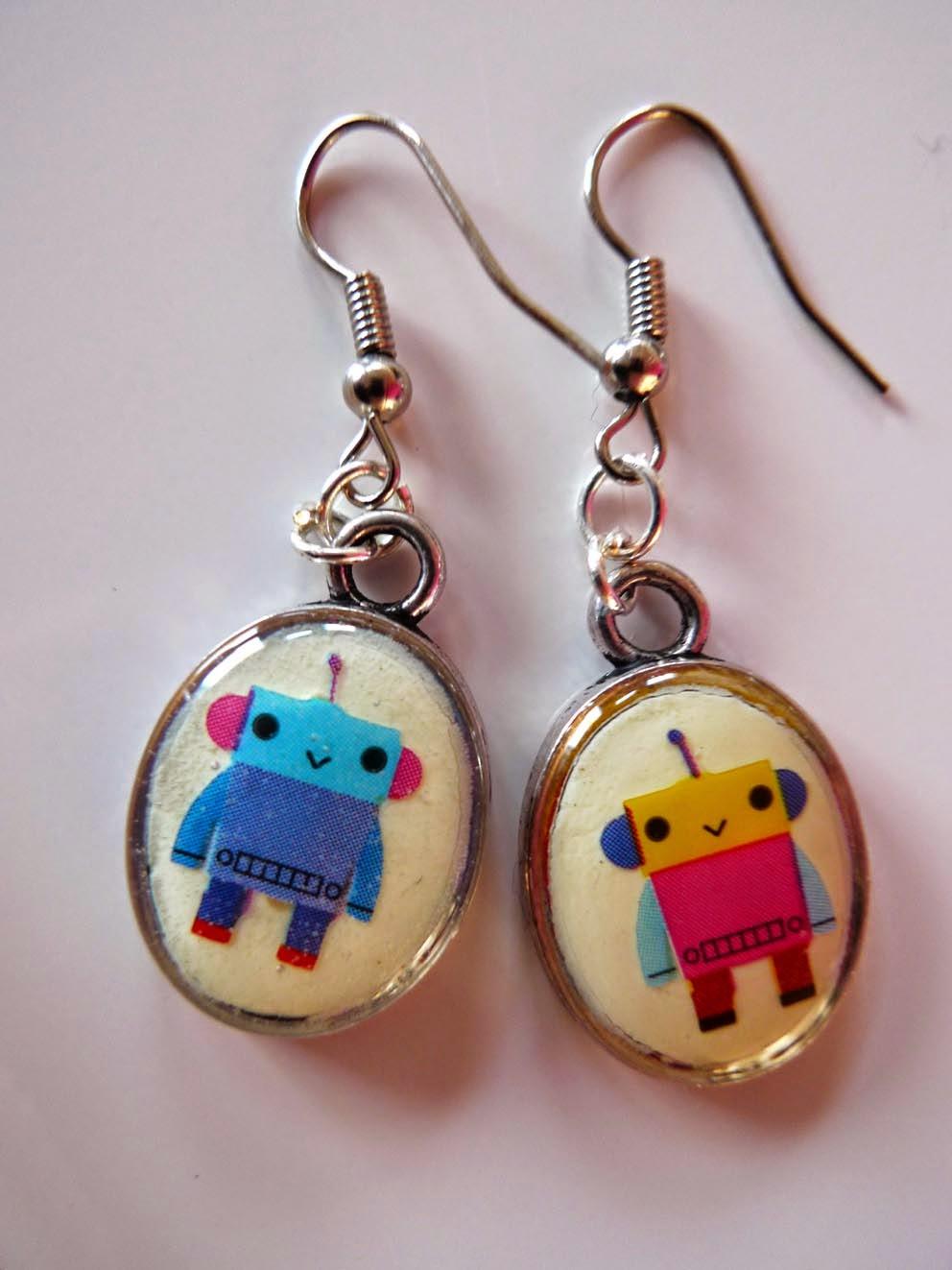 creation robot bijou enfant boucle oreille